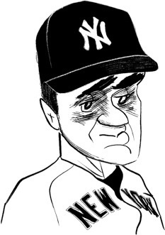 Joe Torre by Tom Bachtell; The New Yorker; Roger Angell