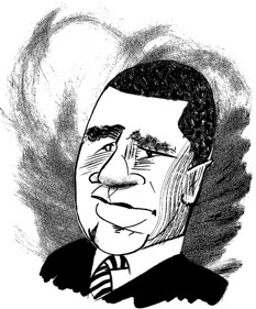 New York Governor David Paterson by Tom Bachtell, The New Yorker