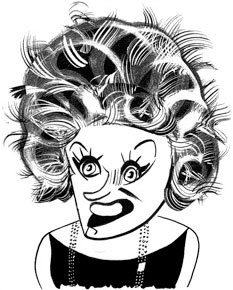 Phyllis Diller by Tom Bachtell; The New Yorker; Tad Friend