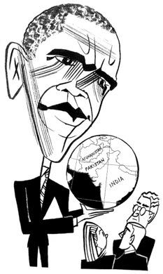 Barack Obama by Tom Bachtell; The New Yorker; Steve Coll