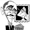 Obama & FDR by Tom Bachtell