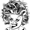 Phyllis Diller by Tom Bachtell