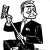 Squeegee Businessman by Tom Bachtell