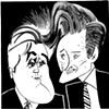 Jay Leno & Conan O'Brien by Tom Bachtell