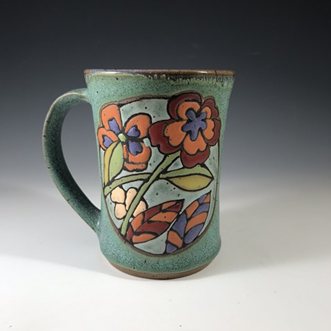 Reverse side of monarch butterfly mug