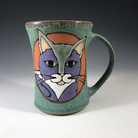Purple cat mug 19-06-04