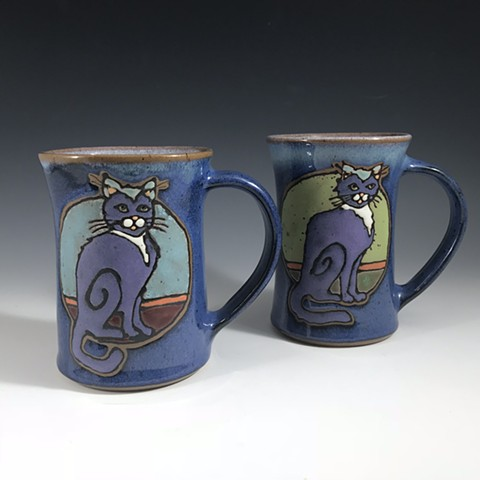 Two cat mugs