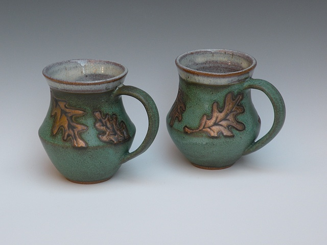 Green & Gold Mugs