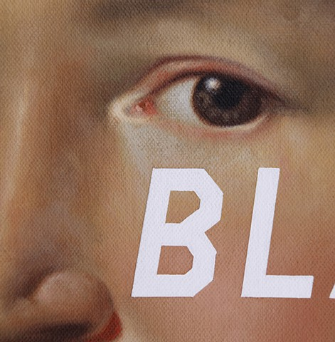 Mrs James Warren: Blah Blah Blah, detail