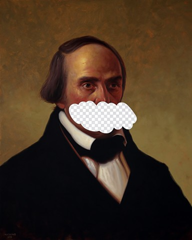 The Truth Is An Arbitrary Thing (Daniel Webster, White House Art Collection Erasure No. 17)