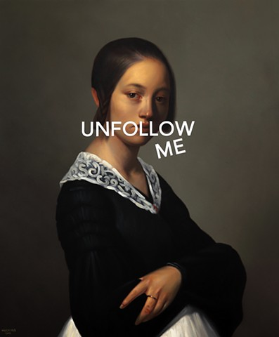 Portrait of Louise-Antoinette Feuardent: Unfollow Me