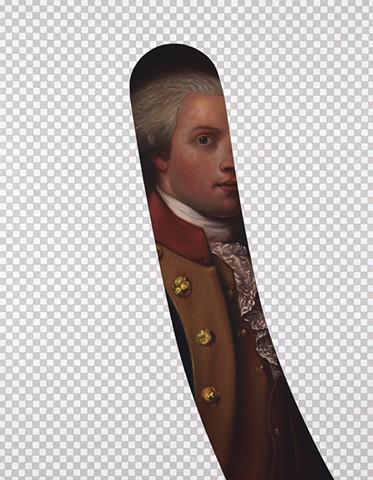My Button Is Bigger Than Your Button (Marquis De Lafayette, White House Art Collection Erasure No. 7)