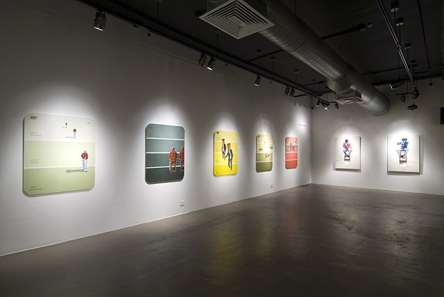 "Installation View ""Can't Miss Lime"""