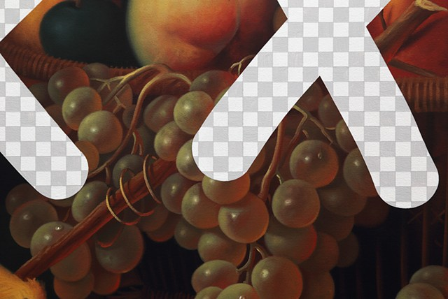 Smut Still Life With Fruit And Canary (Nature's Bounty, White House Art Collection Erasure No. 28), detail