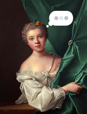 Portrait of Eléonore Louise Le Gendre de Berville: Panic Six (Text Bubble)