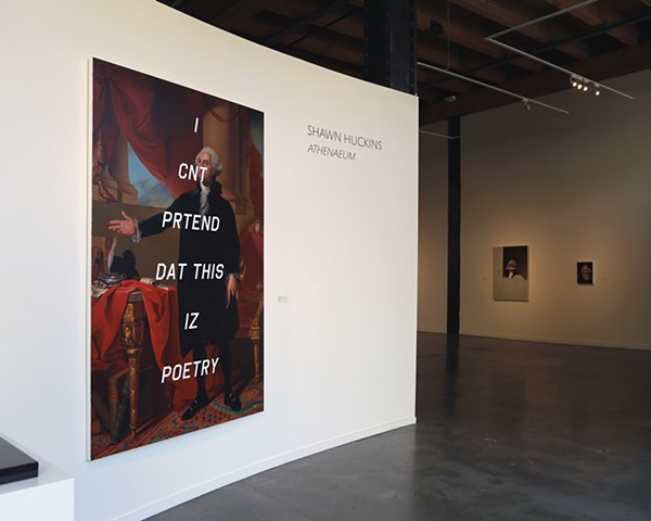 "Installation View ""Athenaeum (I Can't Pretend That This Is Poetry)"""