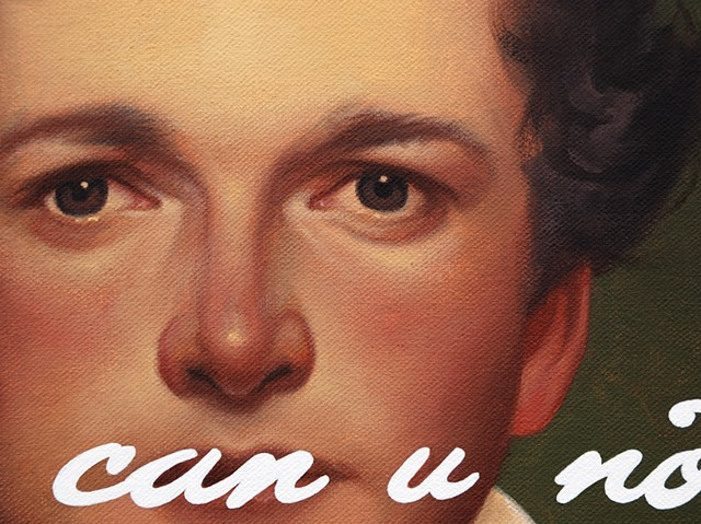 William Sidney Mount Self Portrait: Like, Can You Not?, detail