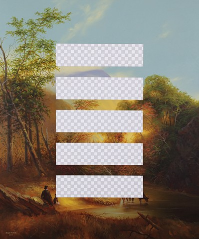 Planet B (Pastoral Landscape, White House Art Collection Erasure No. 6)