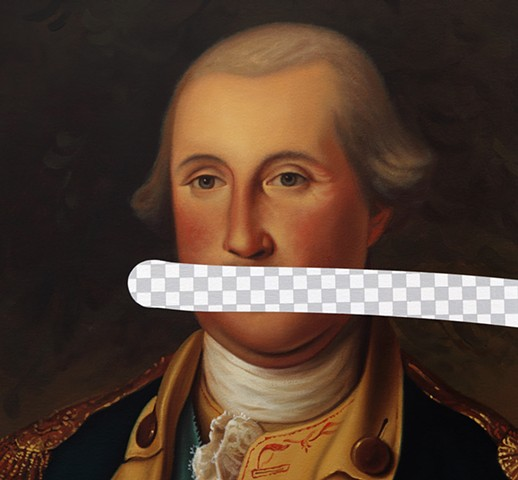Fool Me Once (George Washington, White House Art Collection Erasure No. 23), detail