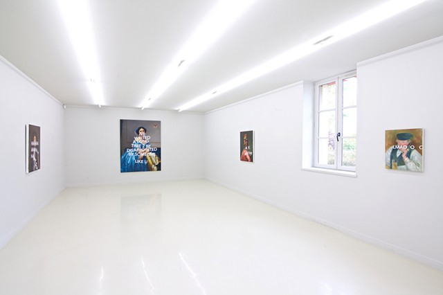 "Installation view ""Happy Go Lucky"""