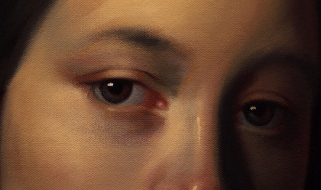 Portrait of Louise-Antoinette Feuardent: Unfollow Me, detail