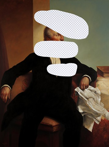 Disagree To Disagree (John Tyler, White House Art Collection Erasure No. 21)