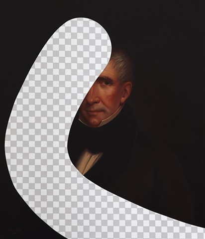 White Lies Beneath (William Henry Harrison, White House Art Collection Erasure No. 10)