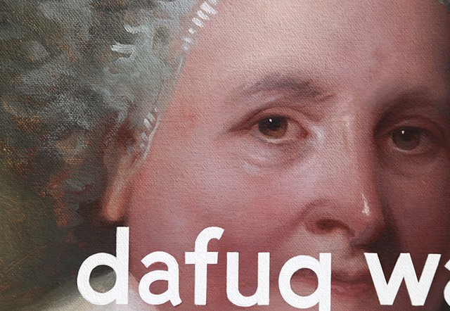 Martha Washington (The Athenaeum Portrait): The Fuck What?, detail