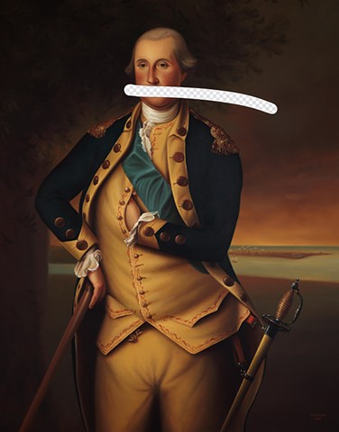 Fool Me Once (George Washington, White House Art Collection Erasure No. 23)