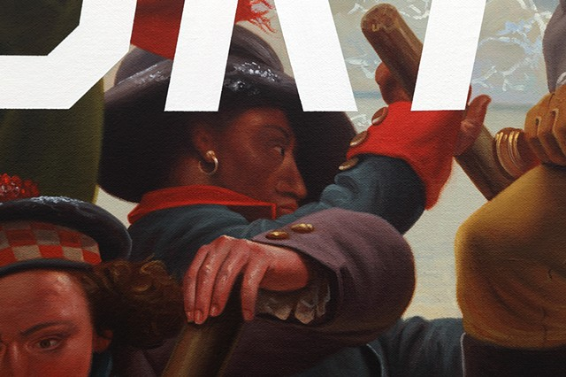 Washington Crossing The Delaware: Critical Drinking, detail