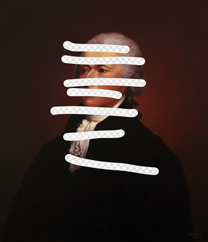 Redact (Alexander Hamilton, White House Art Collection Erasure No. 30)