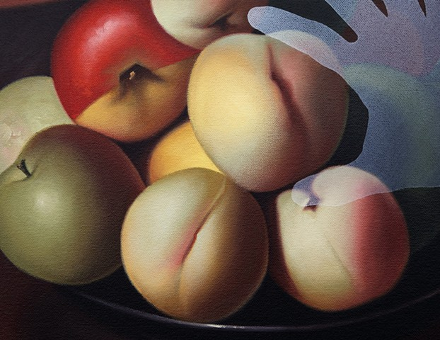 (Lady With A Bowl Of Fruit), detail