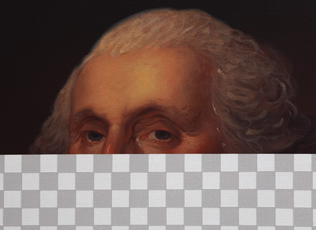 Nothing Rhymes With Orange (George Washington, White House Art Collection Erasure No. 5), detail