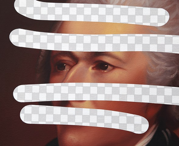 Redact (Alexander Hamilton, White House Art Collection Erasure No. 30), detail