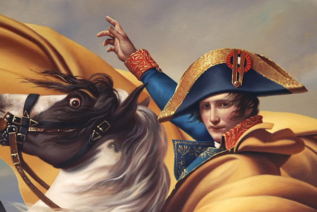 Napoleon Crossing The Alps: Pretending To Have A Good Time Is Exhausting, detail