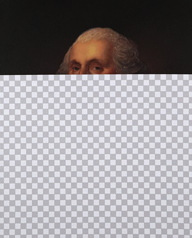 Nothing Rhymes With Orange (George Washington, White House Art Collection Erasure No. 5)
