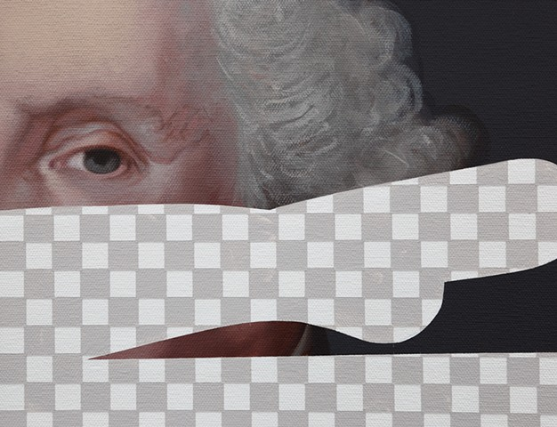 George Washington (Erasure No. 1), detail