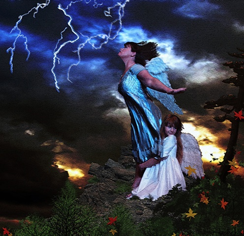 Elements lightning photoshop storm angels facing fear