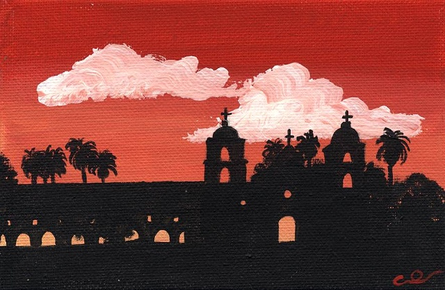 Santa Barbara Mission sunset