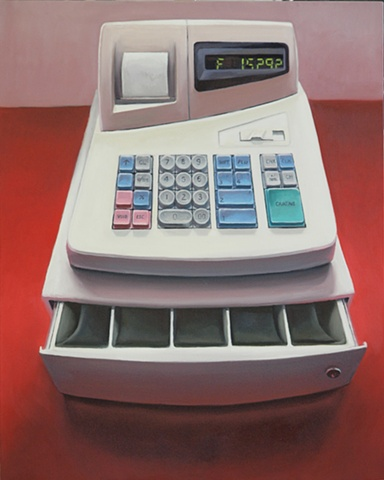 register, cash register, painting