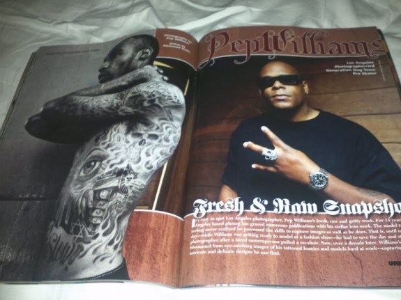 Pep Williams Featured in URBAN INK Magazine.