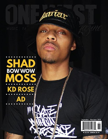 "Shad Moss ""Lil Bow Wow"". OneWest Magazine shot by Pep Williams."