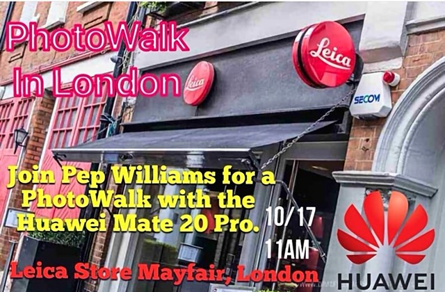 Huawei and Leica PhotoWalk-WorkShop in London at Leica Store.
