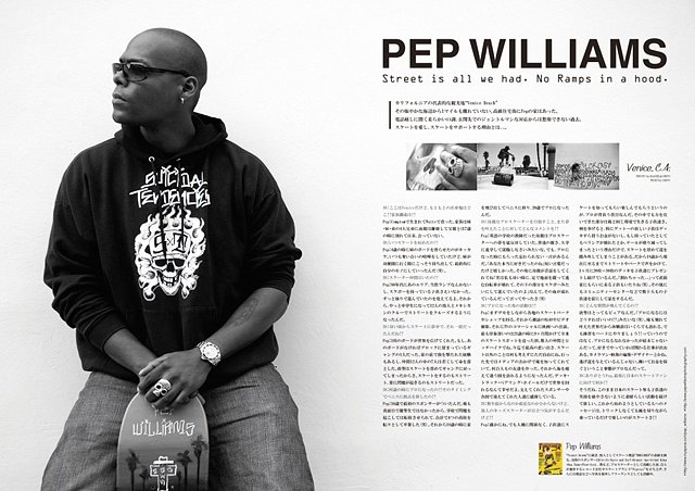 Pep Williams featured in 38 Timez Magazine (Japan)