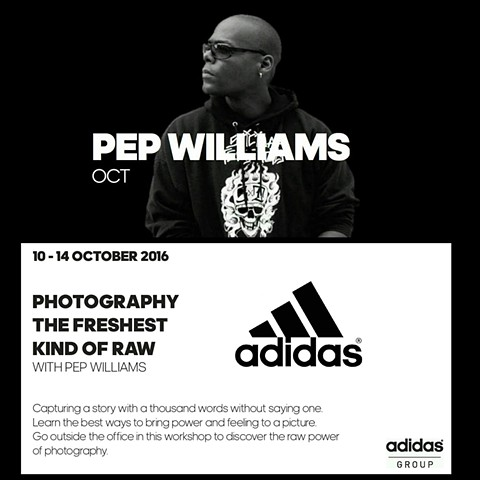 Pep Williams Speaks at the Adidas Headquarters in Germany. 2016