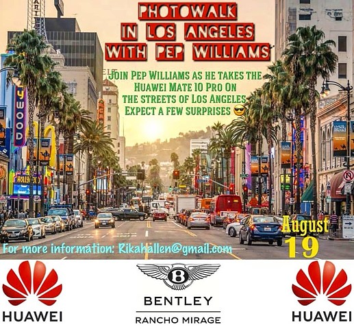Pep Williams Colaborates eith Huawei and Bentley Motors for a Photo Walk.