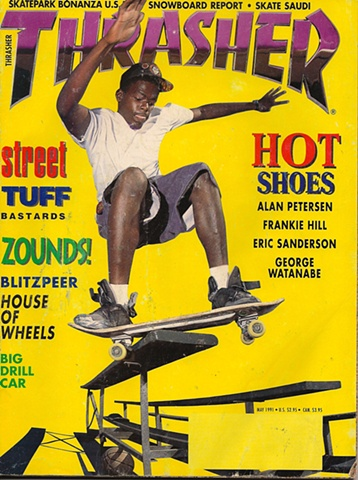 Pep Williams on the cover of Thrasher Magazine