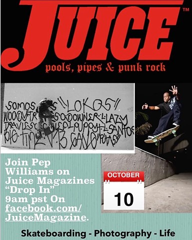 Pep Williams speaks at Juice Magazine