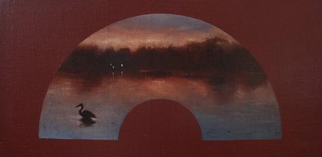 Heron's Sunset (fan)