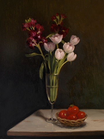 Still Life, Tulips and Tomatoes